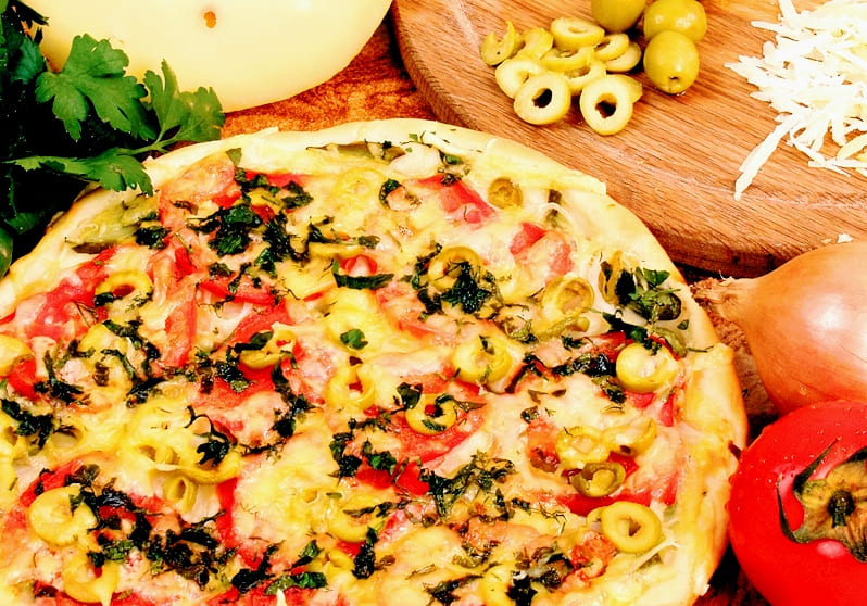Пицца вегетарианская пошаговый рецепт