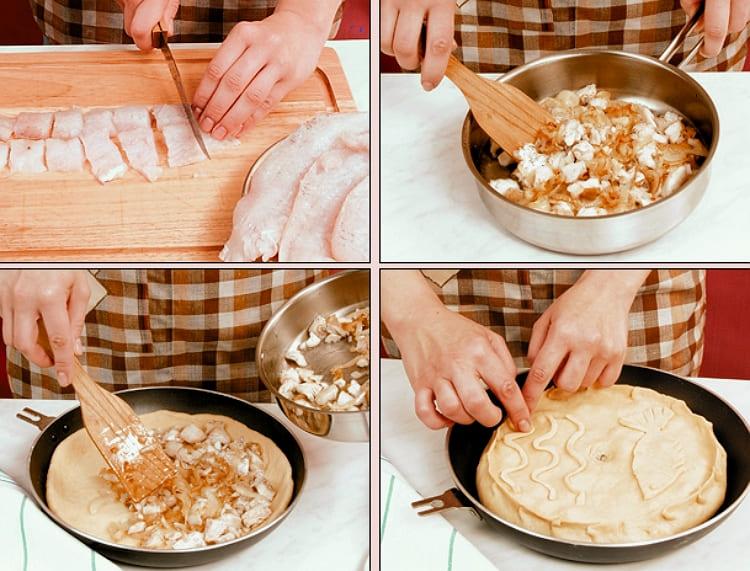 Готовим рыбный пирог из дрожжевого теста