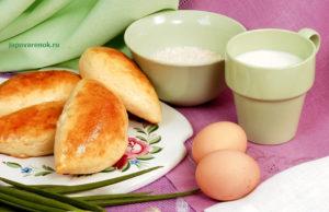 Рецепт пирожков с рисом и яйцом