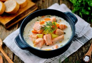 Финский сливочный суп из лосося