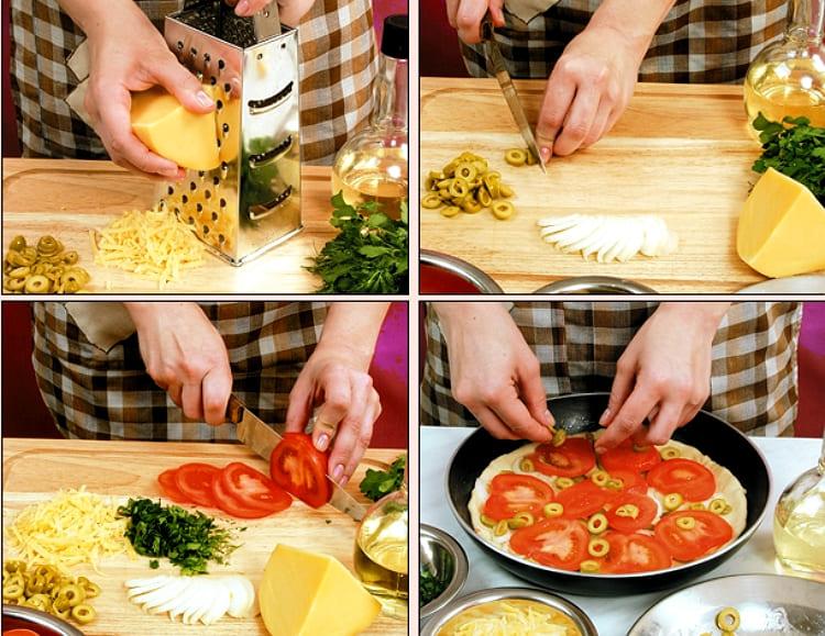 Вегетарианская пицца домашняя
