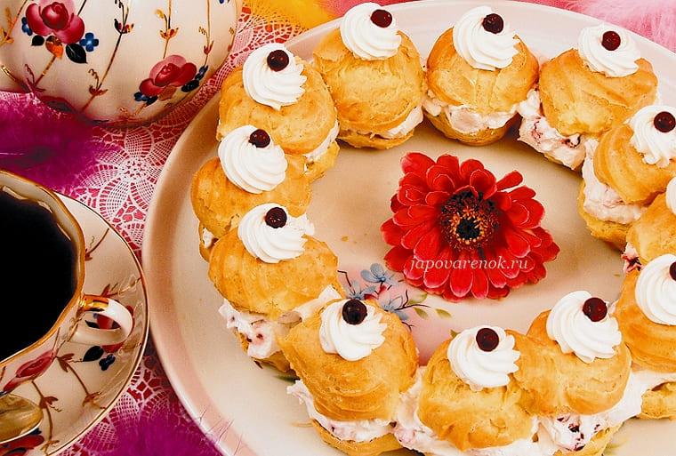 Заварные пирожные рецепт с фото