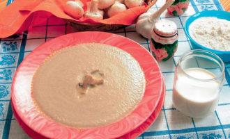 Приготовление суп пюре грибной