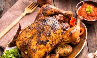 Рецепт фаршированной курицы в духовке