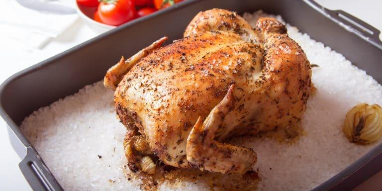 Курица на соли приготовленная в духовке