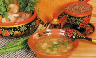 Диетический куриный суп с гречкой и картофелем