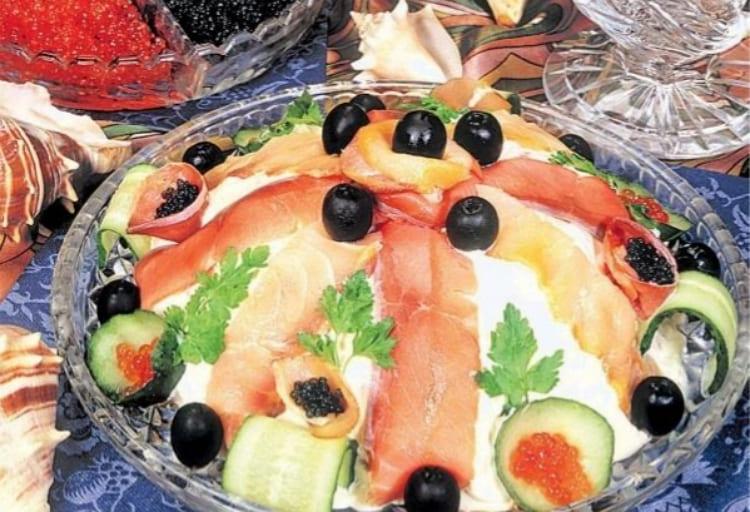 Рыбный салат из азербайджанской кухни
