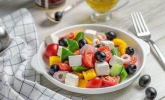Салат греческий рецепт классический с фетой
