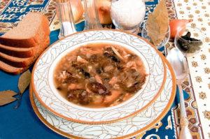Куриный суп с рисом и черносливом