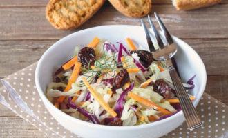 Готовим салат из свежей капусты с изюмом