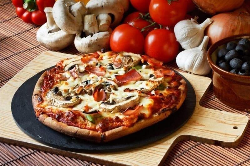 Классическая пицца с ветчиной и грибами
