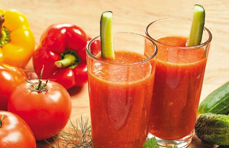 Смузи из помидоров и огурца