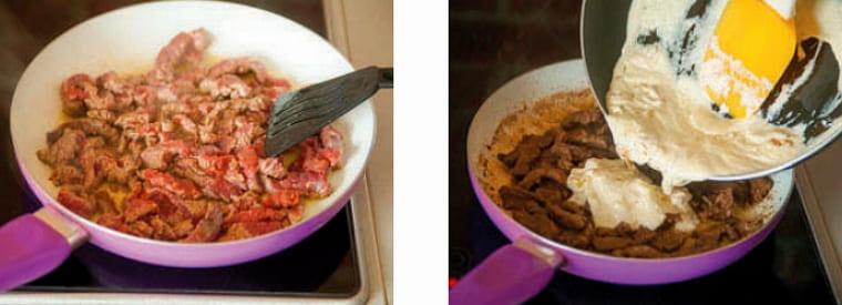 Рецепт бефстроганов из говядины со сметаной