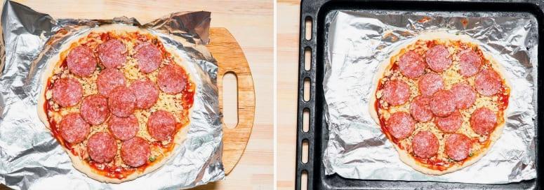 Пицца с салями рецепт приготовления