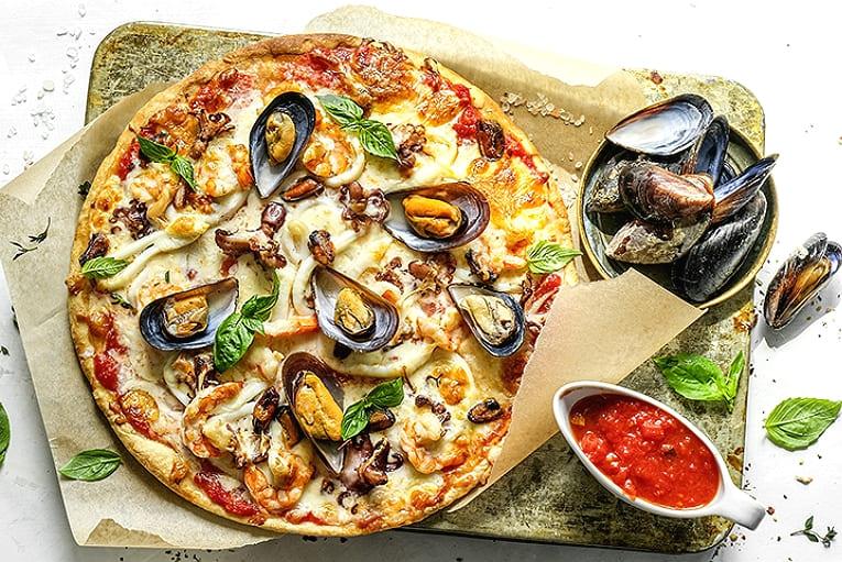 пицца с морепродуктами в домашних условиях