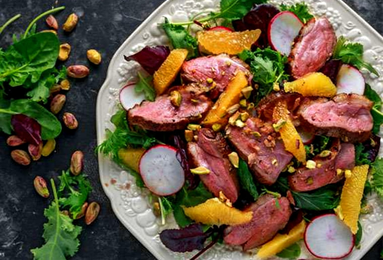 Салат с уткой и апельсинами на праздник